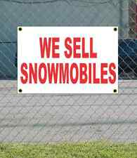 2x3 WE SELL SNOWMOBILES Red & White Banner Sign NEW Discount Size & Price