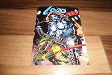 LOBO UNAMERICAN GLADIATORS -- Reklame-Postkarte von DC Dino Comics 2000