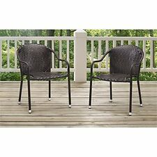 Crosley Furniture Palm Harbor Brown 3 Piece Outdoor Wicker Cafã© Seating Set
