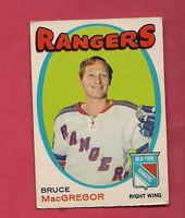1971-72 OPC # 216 RANGERS BRUCE MACGREGOR  CARD