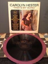 Carolyn Hester – That's My Song     Dot Records – DLP.3604  IK 1964 Vinyl LP