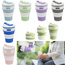 350ML Silicone Telescopic Coffee Cup Folding Collapsible Outdoor Travel Portable