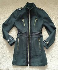 Miss Sixty Green Fitted Jacket Coat / Size M 12 / Premium / New