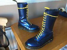 Vintage Dr Martens 1914 blue shimmer boots UK 6 EU 39 skin punk mosh England