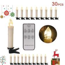 30 Kabellose LED Christbaumkerzen Weihnachtskerzen Weihnachtsbaumbeleuchtung