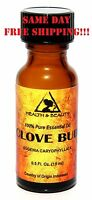 CLOVE BUD ESSENTIAL OIL AROMATHERAPY 100% PURE NATURAL GLASS BOTT 0.5 OZ, 15 ml