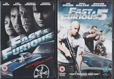 FAST AND THE FURIOUS 4 & 5 [Four,Five] Vin Diesel, The Rock, Paul Walker DVD EXC