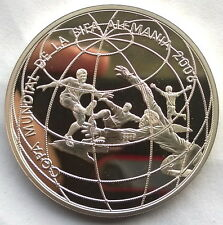 Peru 2004 World Cup New Sole Silver Coin,Proof