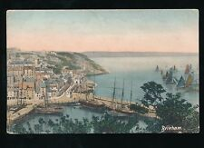 Devon BRIXHAM Harbour Fishing Sail Boats 1904 PPC by Frith