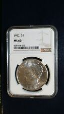 1922 P Peace Silver Dollar NGC MS61 UNCIRCULATED $1 COIN Starts At 99 Cents!