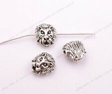 Tibetan Silver Lion Head Spacer Beads for Bracklet Jewelry Findings 12MM A3029