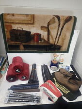 lot of vintage Golf Accessories Balls Grips Tee Fees Bank Mat Shoes 8M Headcover
