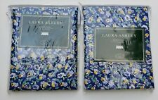 "2 LAURA ASHLEY FLORAL GINGHAM BLOUSON VALANCE 86"" x 18""  NEW"