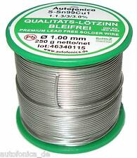 Quality Soldering Tin Lead free 0 1/16in 8.8oz According to DIN Sn99Cu1 wire