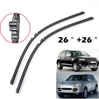 "2Pcs Front Windshield Wiper Blades For Porsche Cayenne VW Touareg 02-06 26""26"""