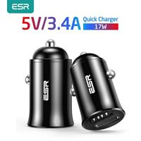 ESR Car Charger Universal Fast Charging Dual USB for ALL Phones iPhone Samsung