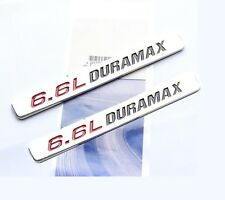 2x OEM 6.6L DURAMAX Hood emblem Badge Turbo Diesel Silverado 2500 HD fu Chrome