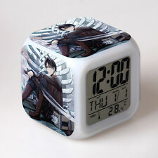Anime Attack On Titan LED Digital Alarm Clock 7Color Change Thermometer Calendar