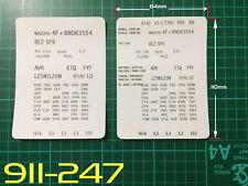AUDI Stile 1 VIN dati Bonnet Hood manutenzione LIBRO etichette adesivi