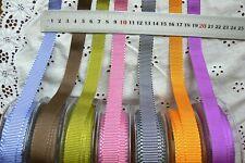 Grosgrain Two-Toned Ribbon 16mm 3 Metre lengths 7 Mixed Colour Choice LL5