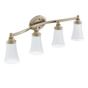 Moen YB2864BN Eva 4-Light Bathroom Vanity Fixture, Brushed Nickel (New)
