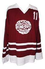 Any Name Number Size Flin Flon Bombers Retro Hockey Jersey Maroon Bob Clarke