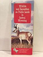 1967 Wildlife and Recreation on Public Lands in Central Wyoming Map & Brochure