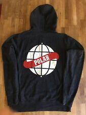 Authentic 1st Gen Polar Skate Co. Zip Up Hoodie DarkHeather Gray M Supreme Rare