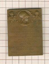 superbe plaquette à émile Picard , académie française, Sorbonne, 1927