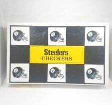 NFL Steelers Chekers Football Helmet Board Game Steelers vs Browns 1993