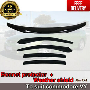 Bonnet Protector + Weather Shields to suit Holden Commodore VY 2002-2007