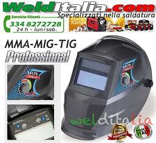 MASCHERA SALDATURA LCD AUTOMATICA LION KING 2 REG.9-13 DIN MMA-MIG-TIG SALDATORE