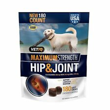 VetIQ Maximum Strength Hip & Joint, 180 Chicken Flavored Soft Chews for Dogs,