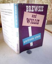 BREWSIE & WILLIE,1946,Gertrude Stein,1st Ed,DJ