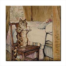 Cat Tile Beatrix Potter Simpkin At The Tailor's Bedside Ceramic Decorative Art