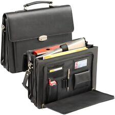 AKTENTASCHE Businesstasche  Echt Leder schwarz Tasche mit Notebookfach  NEU