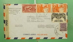 DR WHO 1944 MEXICO SPECIAL DELIVERY AIRMAIL TO USA WWII CENSORED  g11063