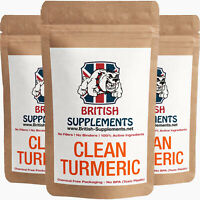 Clean Turmeric Extract 10,480mg (Curcumin 497mg Veg Capsules British Supplements