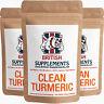 Clean Turmeric Extract 10,480mg (Curcumin 497mg Veg Capsules British Supplements