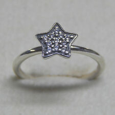 New Authentic Pandora Ring 190891CZ Pave Stars Size 52 (6) Box Included