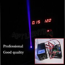 Focusable high power 200mW 405nm Purple Laser Module 12V input continuous work