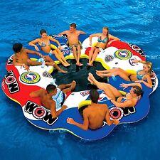 Giant Water Raft Inflatable Lounge Island Float Large Pool Lake River Swim Xmas