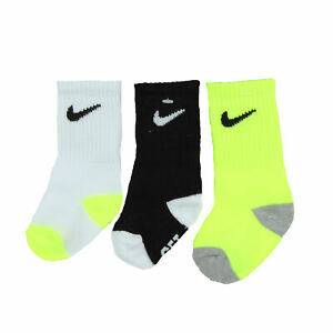 Nike Kids 3 Pack Crew Socks (Black (023), 6-12 Months)
