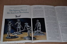 1975 Franklin Mint 2-page advertisement American Revolution Fighting Men figures