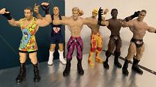 WWE JAKKS UNLIMITED FIGURES LOOSE - Rock, Jericho, Brock Bone Crunching Flex-Ems