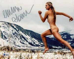 EMMA COBURN SIGNED 8x10 PHOTO TEAM USA TRACK & FIELD ESPN BODY NUDE BECKETT BAS