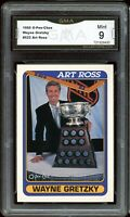 1990 O-Pee-Chee OPC #522 Art Ross Wayne Gretzky Graded GMA 9 MINT ~ PSA 9 ?