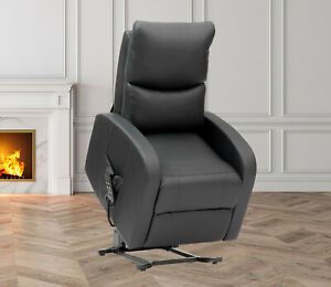 Leather Electric Power Rise and Recline Riser Recliner Mobility Lift Tilt Chair