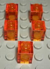 SK152 2 Stück transparent rot orange Rund Bau Steine 2x2 FL.REDORA unbespielt Baukästen & Konstruktion