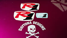 R1 RED BLACK WHITE SET NOSE & CONE SEAT UNIT DECALS STICKERS